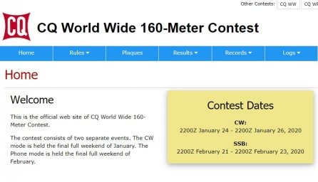 CQ World Wide 160-Meter Contest